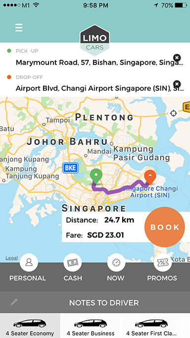 Booking Process with Limousine and Taxi Dispatch System