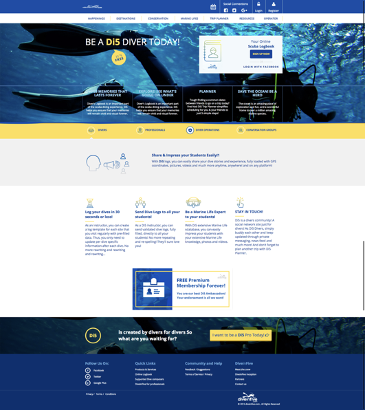 Diving Website Design Services